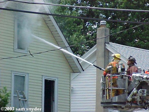 Fire in Washington, NJ - July 14, 2003 (Photos)