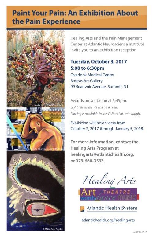 Paint Your Pain Art Exhibit - Overlook Hospital, Summit, NJ